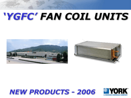 `YGFC` FAN COIL UNITS NEW PRODUCTS