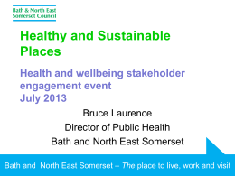 Presentation - Healthy and Sustainable Places