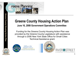 Greene County Housing Action Plan Powerpoint