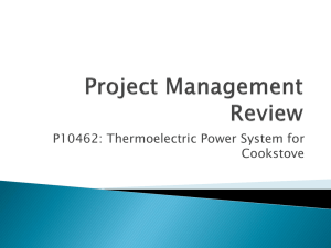 Project Management Review Presentation