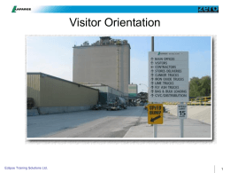 Lafarge Ravena Visitor Orientation PowerPoint Presentation April 26