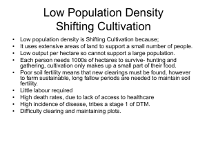 Low Population Density Shifting Cultivation