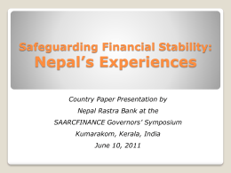 Nepal - Reserve Bank of India