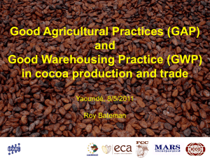 (GAP) and Good Warehousing Practices