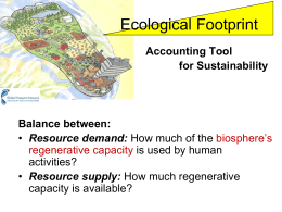 Footprint - UL Sustainable Development