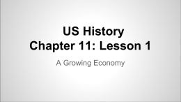 US History Chapter 11: Lesson 1