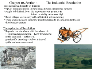 Chapter 12, Section 1 The Industrial Revolution