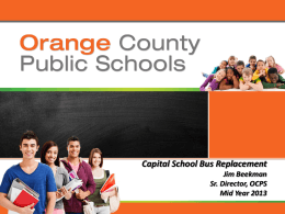 OCPS Capital School Bus Replacement 2012-13