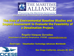 The Role of Environmental Baseline Studies and Impact