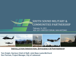SOUTH SOUND MILITARY & COMMUNITIES PARTNERSHIP