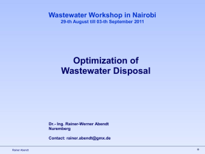 Optimization of Wastewater Disposal - SWAP-bfz