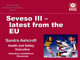 Seveso III – latest from the EU