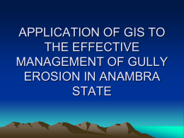 application of gis to gully erosion in anambra state