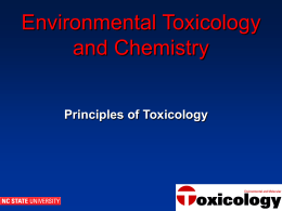 General Principles of Toxicology