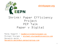 Paper vs Digital Presentation Slides