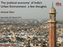 Presentation - The 21st Century Indian City