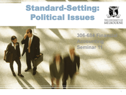 Standard-Setting: Political Issues 306