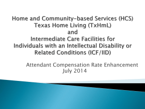 HCS/TxHmL and ICF/IID training presentation