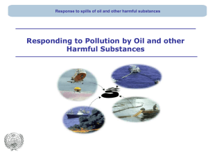 Topic 3_Responding to pollution by oil and other