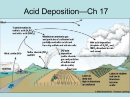 ch 17 acid deposition power point