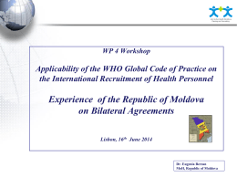 EU-Moldova Partnership - Joint Action on Health Workforce