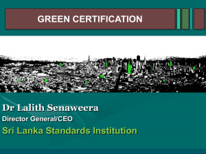 green certification
