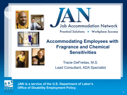 Fragrance Sensitivity - Job Accommodation Network