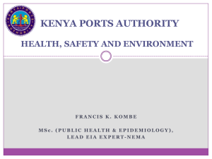 the kenya ports authority emergency management plan
