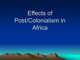 Effects of Colonialism in Africa