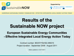 English - Sustainable Now