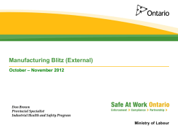 Ministry of Labour - Health & Safety Ontario