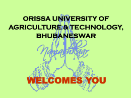 Orissa University of Agriculture & Technology.Bhubaneswar