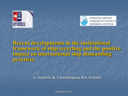 presentation - 4th International Symposium of Maritime