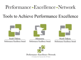 2013-Presentation-Sathish - Performance Excellence Network