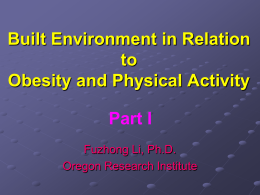 Environment Obesity and Physical Part 1