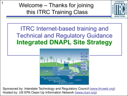 ITRC Internet-based training and Technical and - CLU-IN