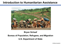 What is Humanitarian Assistance? - Center for International Studies