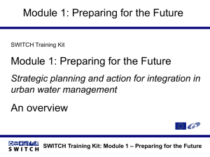 SWITCH Training Kit: Module 1 – Preparing for the Future