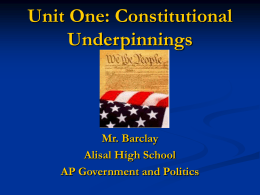 Unit 1 Constitutional Underpinnings Powerpoint
