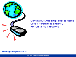 Continuous Auditing Process Using Cross References and Key