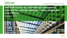 What are the benefits of BREEAM In-Use?