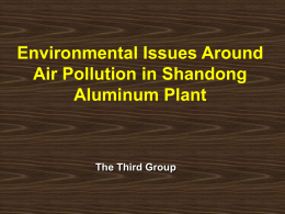 Air Pollution in Shandong Aluminum Plant