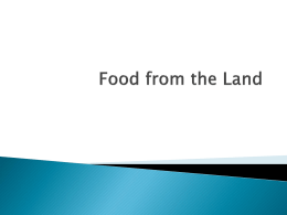 Food from the Land