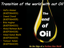 Presentation - transition of world without oil