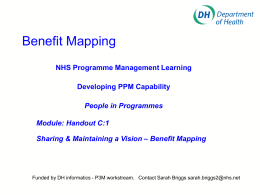 Benefit Mapping - NHS Connecting for Health