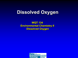 Lecture on dissolved oxygen