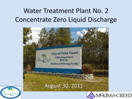 WTP No. 2 Concentrate Zero Liquid Discharge