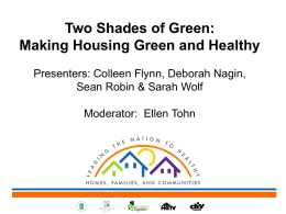 Presentation 1 - National Healthy Homes Conference