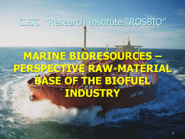 marine bioresources – perspective raw
