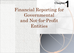 How Do Governmental and Not-For-Profit Organizations Differ From